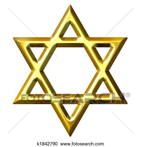 stock illustrations of 3d golden star of david k1842790 search rh fotosearch com Pink Banner Clip Art Line of Stars Clip Art