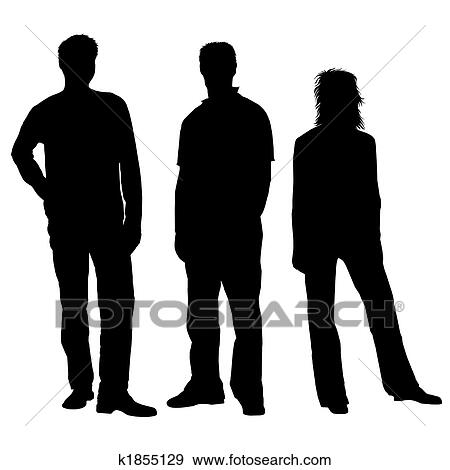 People Clipart Black And White