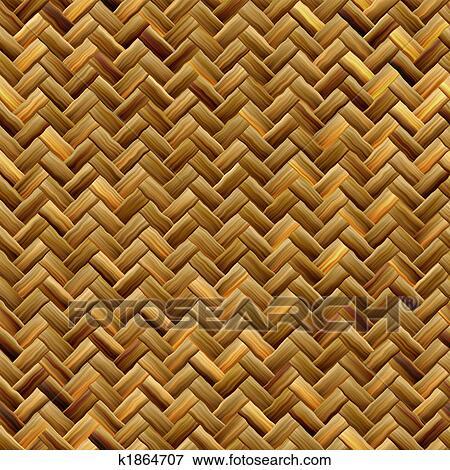 Stock Illustration Of Basket Weave Texture K1864707