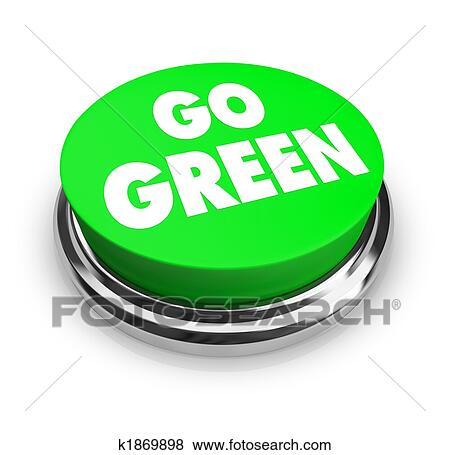 Stock illustration of go green button k1869898 search for Mural go green