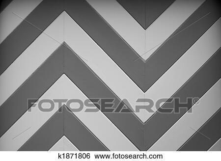 Cheveron Design Vector Art Bw