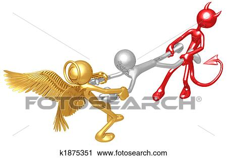 Clipart of Good Versus Evil k1875351 - Search Clip Art ...