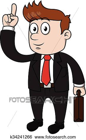 clip art of business man pointing and happy k34241266 search rh fotosearch com business clipart images business clip art pictures