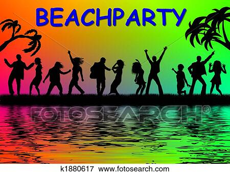 Beach party Stock Illustrations. 1,288 beach party clip art images ...