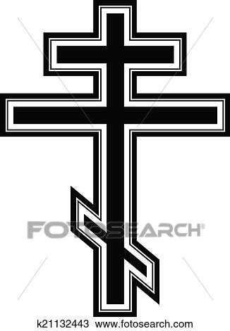clipart of religious orthodox cross icon k21132443 search clip rh fotosearch com orthodox clip art oca orthodox christmas clipart