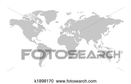 Stock illustrations of world map grey k1898170 search clipart world map grey gumiabroncs Choice Image