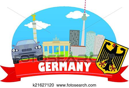 clipart of germany tourism and travel k21627120 search clip art rh fotosearch com germany clip art free germany clipart black and white