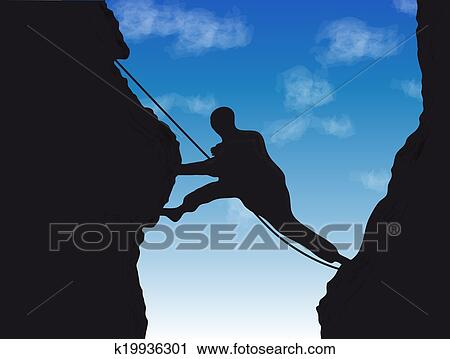 Clipart of Mountaineer k19936301 - Search Clip Art, Illustration ...