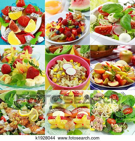 Stock Photo of Healthy food collage k1928044 - Search ...