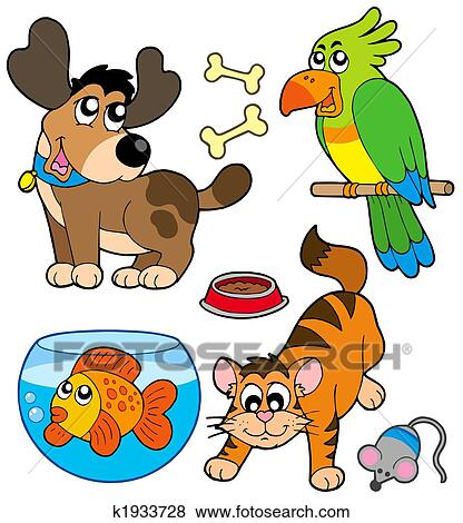 stock illustration of cartoon pets collection k1933728 happy hot dog clipart happy birthday dog clipart free