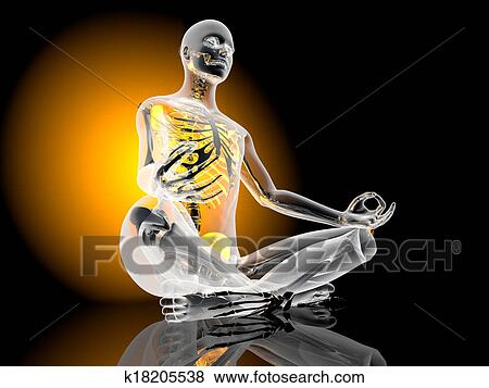 Stock illustration of yoga meditation pose k18205538 for Pose poster mural