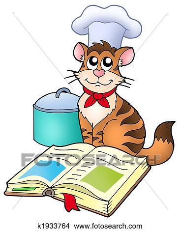 Disegni cartone animato gatto chef con ricetta for Gatto clipart