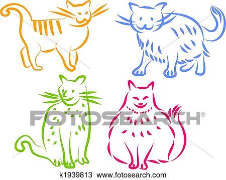 手绘图 - 猫, 图标图片