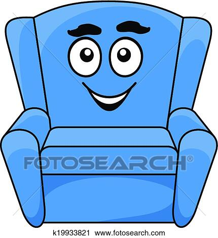 Sessel clipart  Clipart - bequem, gepolstert, blau, sessel k19933821 - Suche Clip ...