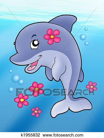 Cute Dolphin Drawing