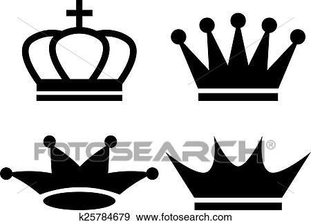Clip art of king crown icon k25784679 search clipart illustration king crown icon on white background thecheapjerseys Choice Image