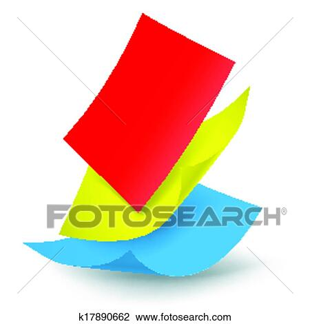 Clipart of Falling paper sheets k17890662 - Search Clip Art ...