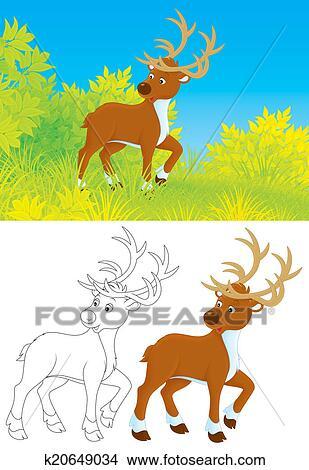 手绘图 - 鹿
