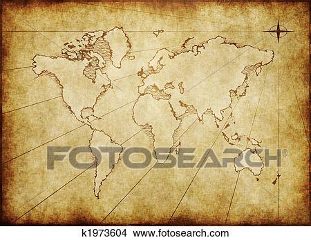 旧世界, 地图, 画