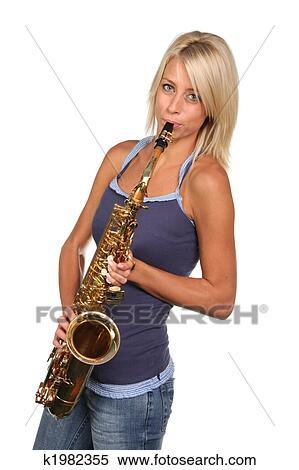 lady clarinet art