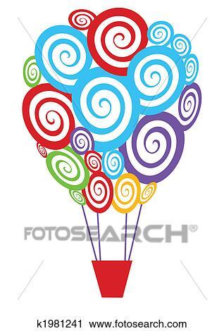 clipart hei luft ballon k1981241 suche clip art illustration wandbilder zeichnungen und. Black Bedroom Furniture Sets. Home Design Ideas