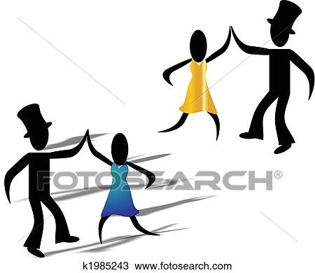clipart of let s dance k1985243 search clip art illustration rh fotosearch com Line Dancing Clip Art Wake Up Clip Art