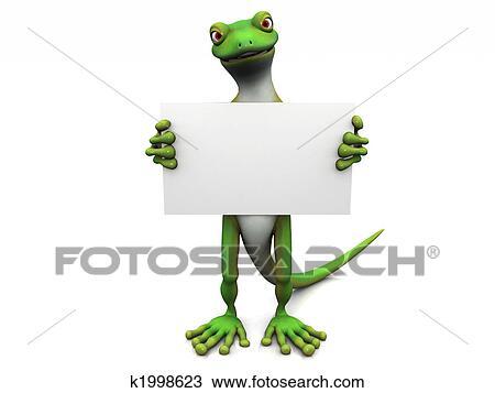 Disegno cartone animato geco con segno k1998623 for Disegno geco