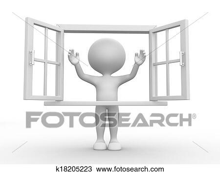 Dessin ouvrir fen tre k18205223 recherchez des for Porte qui s ouvre dessin
