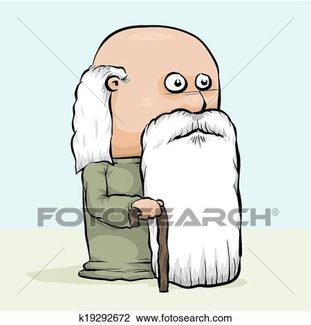 Clipart of Wise Old Man k19292672 - Search Clip Art ...