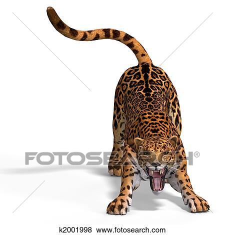 Stock Illustration of Big Cat Black Jaguar k2001838 - Search EPS ...
