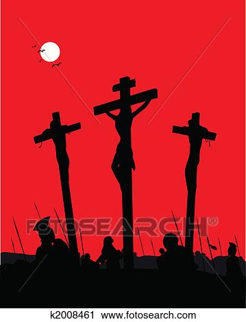 clipart jesus christus crucifixion k2008461 suche clip art illustration wandbilder. Black Bedroom Furniture Sets. Home Design Ideas