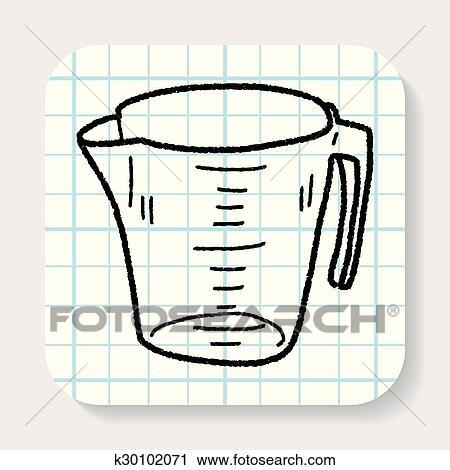 Messbecher clipart  Clipart - meßbecher, gekritzel k30102071 - Suche Clip Art ...