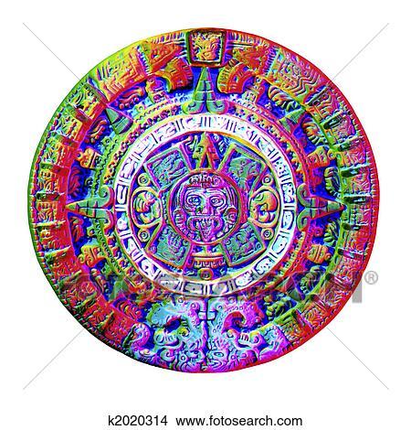 Drawings of aztec calendar k2020314 search clip art for Clipart calendario