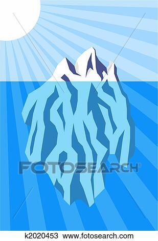 Clipart of iceberg k2020453 search clip art for Clipart iceberg