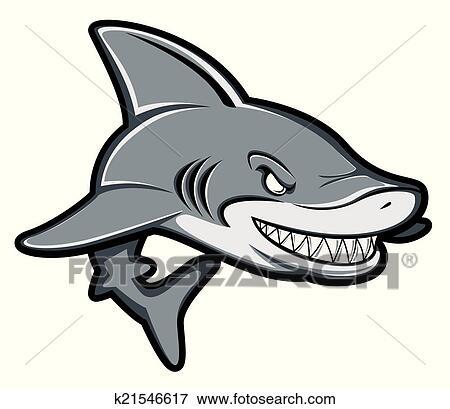 剪贴画 - 鲨鱼, 卡通漫画图片
