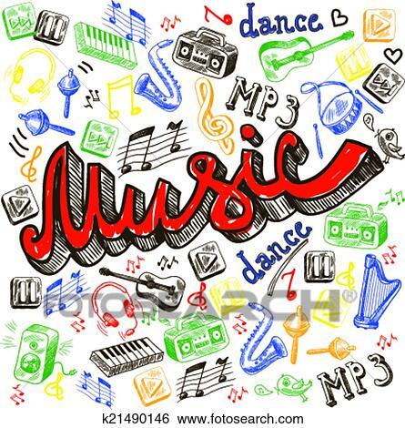 Clipart - couleur musique, fond k21490146 - Recherchez des ...