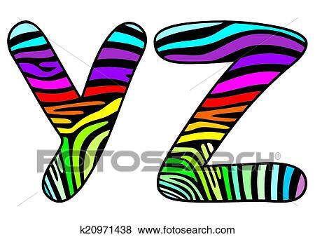 clip art of background skin zebra letter y z k20971438 search rh fotosearch com