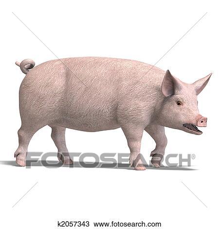 Dessin cochon render k2057343 recherchez des cliparts - Dessin cochon debout ...