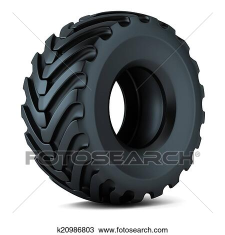 Drawing of tractor tire isolated 3d k20986803 search for Big tractor tires for free