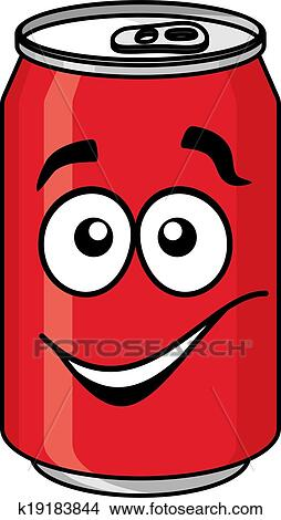 Clipart of Red cartoon soda or soft drink can k19183844 - Search ...