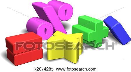 Clipart - 3d, matematica, simboli, o, segni. Fotosearch - Cerca Clipart, Illustrazioni murali, Disegni e Immagini grafiche EPS vettoriali