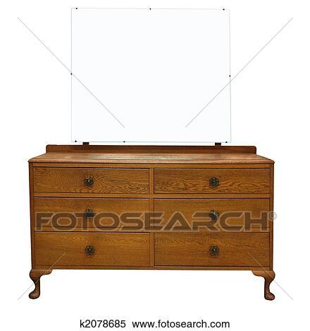 Banque d 39 image antiquit coiffeuse miroir k2078685 for 207 haute antiques