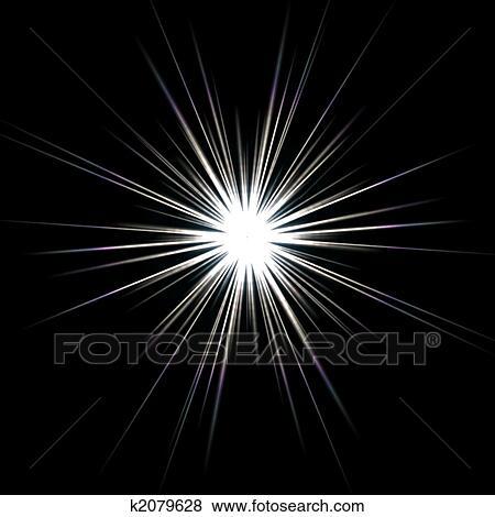 Colección de ilustraciones - destello solar, explosión de la ...
