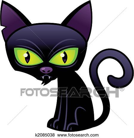 clipart halloween chat noir k2085038 recherchez des. Black Bedroom Furniture Sets. Home Design Ideas