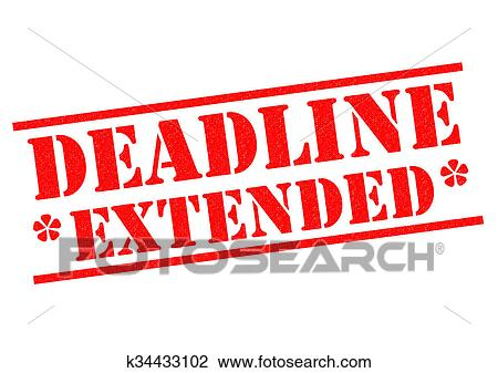 Clip Art of DEADLINE EXTENDED k34433102 - Search Clipart ...