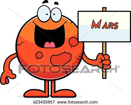 clip art of cartoon mars sign k23435957 search clipart rh fotosearch com clipart of marijuana clipart of maryland