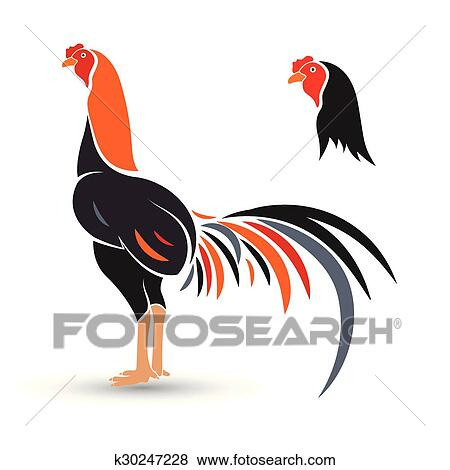 clip art of game cock k30247228 search clipart illustration rh fotosearch com