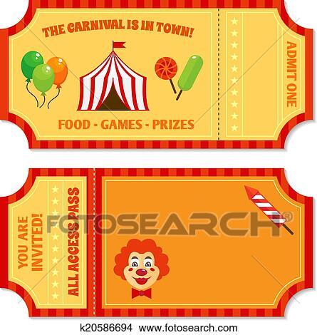 Clipart of Circus tickets template k20586694 Search Clip Art – Food Tickets Template