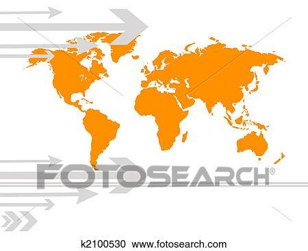 地囹kΈ�_图解或插画 - 世界地图 k2100530 - 搜寻创意花式边框