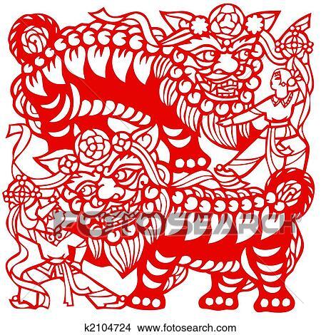 zeichnungen chinesischer tierkreis von loewen k2104724 suche clip art illustrationen. Black Bedroom Furniture Sets. Home Design Ideas